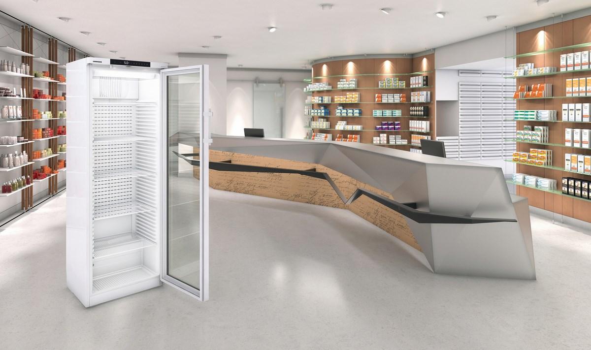 Liebherr Arzneimittelkühlschrank in einer Apotheke