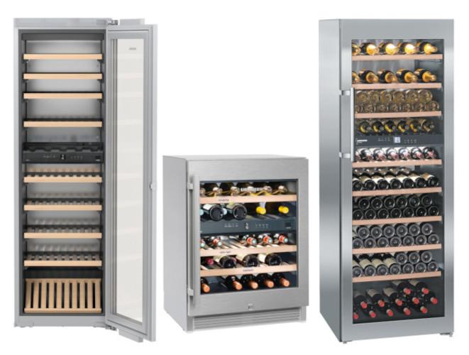 Weintemperierschränke der Liebherr Vinidor Reihe mit 2 oder 3 Klimazonen