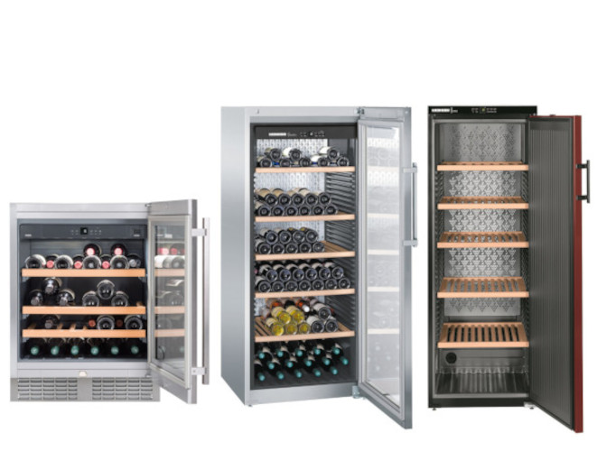 Weinkühlschränke wie Weintemperierschränke oder Weinklimaschränke