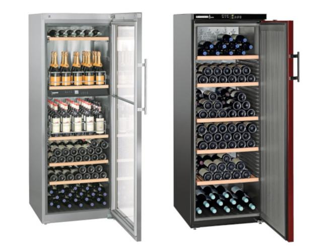 Liebherr Weinkühlschränke mit Volltür oder Glastür
